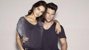 Irina Shayk With Boy In Black Top And Looking Front